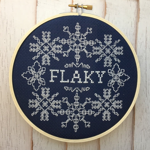 Flaky Counted Cross Stitch DIY KIT Intermediate