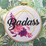 Badass Counted Cross Stitch DIY KIT