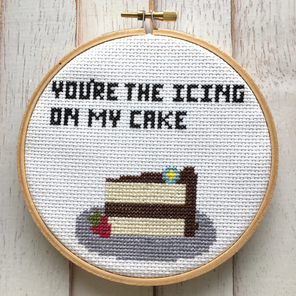You're the Icing on my Cake Counted Cross Stitch DIY Kit