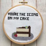 You're the Icing on my Cake Cross Stitch DOWNLOAD Pattern and Instructions