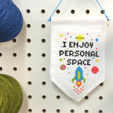 Personal Space Tiny Banner Counted Cross Stitch Kit