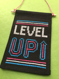 Level Up Tiny Banner Counted Cross Stitch Kit