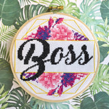 Boss Counted Cross Stitch DIY KIT