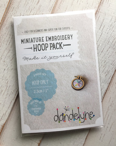 dandelyne mini embroidery hoops