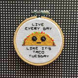 Taco Tuesday Counted Cross Stitch Pattern DOWNLOAD