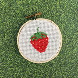 Strawberry Counted Cross Stitch DIY Kit