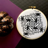 Blackwork Halloween Counted Cross Stitch DIY KIT