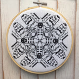 Blackwork Moth Counted Cross Stitch Pattern DOWNLOAD