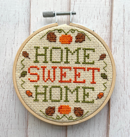 Home Sweet Home Fall Counted Cross Stitch DIY KIT
