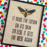 Silence of the Lambs Lotion Line 8 x 10 Film Movie Counted Cross Stitch DIY KIT Intermediate