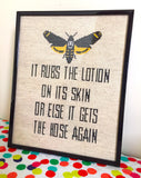 Silence of the Lambs Lotion Cross Stitch DOWNLOAD Pattern and Instructions
