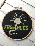 Free Hugs Alien Creature Cross Stitch DIY DIGITAL DOWNLOAD Intermediate