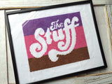 The Stuff Cross Stitch DOWNLOAD Pattern and Instructions