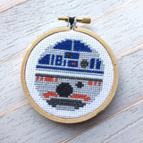 Star Wars R2D2 BB8 Counted Cross Stitch DIY Kit, Pattern and Instructions