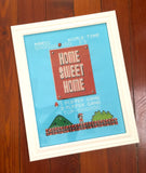 Home Sweet Home Mario Bros Inspired Cross Stitch DIGITAL DOWNLOAD pattern