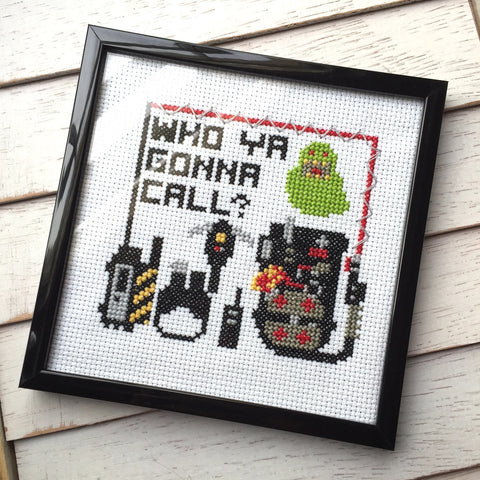 Ghostbusters Who Ya Gonna Call Slimer Film Movie Cross Stitch Pattern Download Intermediate