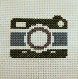 Vintage Camera Cross Stitch DOWNLOAD Pattern and Instructions
