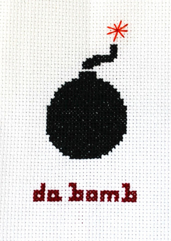 Da Bomb Cross Stitch DOWNLOAD Pattern and Instructions
