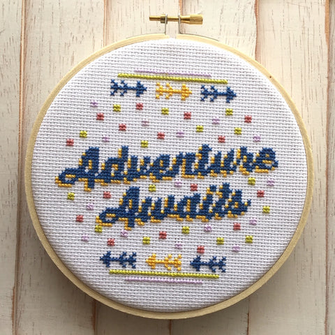 Adventure Awaits  Counted Cross Stitch Pattern DOWNLOAD Intermediate