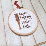 The Walking Dead Inspired Eeny Meeny Miny Moe Negan TV Television Counted Cross Stitch DIY KIT Beginner