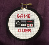 Game Over Controller Counted Cross Stitch DIY Kit, Pattern and Instructions
