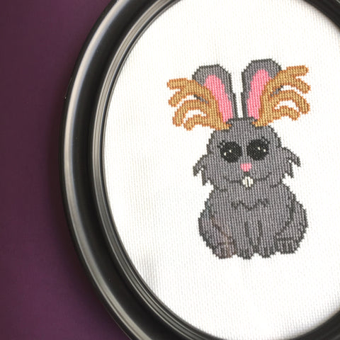 Jackalope Counted Cross Stitch DIGITAL DOWNLOAD Pattern Intermediate