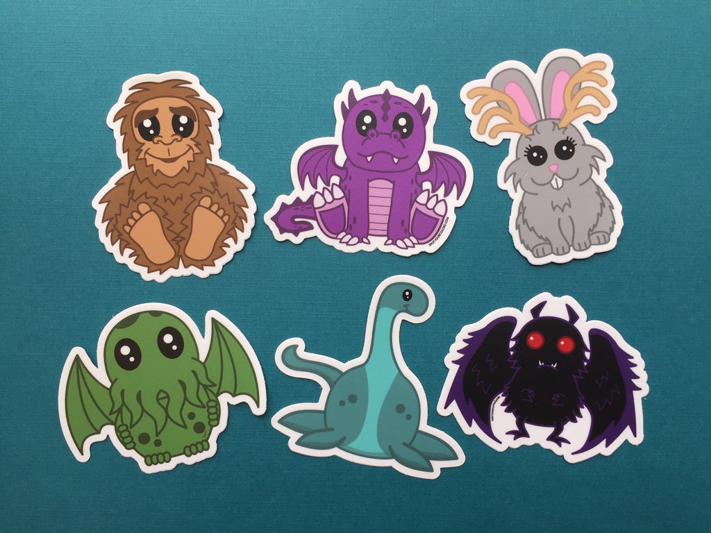 Cryptid 6 Sticker Pack 3""