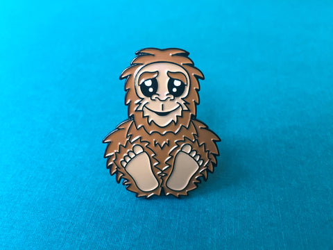 Bigfoot Sasquatch Soft Enamel Pin 1.5""