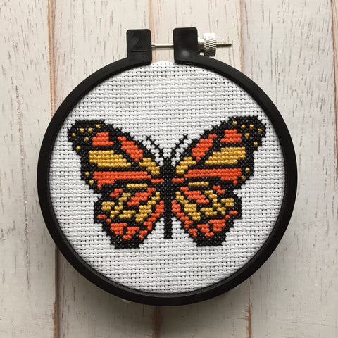 Butterfly Bug Counted Cross Stitch DIY KIT Beginner