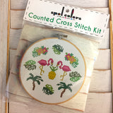 Tropical Counted Cross Stitch DIY KIT Intermediate