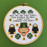 Leprechaun Film Movie Cross Stitch Pattern DOWNLOAD Intermediate St Patrick's Day