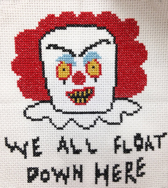 Pennywise It Clown Counted Cross Stitch Diy Kit Spot Colors