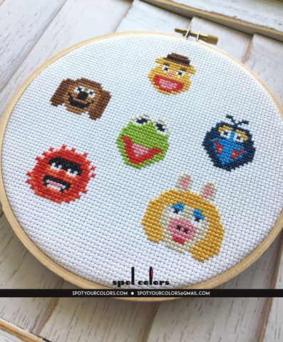 The Muppets Counted Cross Stitch Pattern DOWNLOAD Intermediate