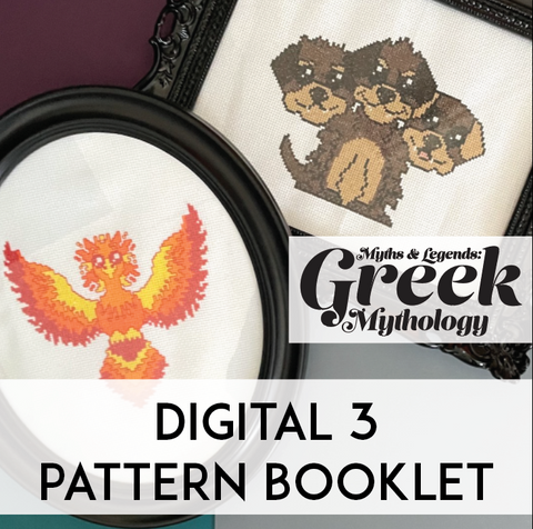 Greek Myths 3 Design Counted Cross Stitch Book DIGITAL Download