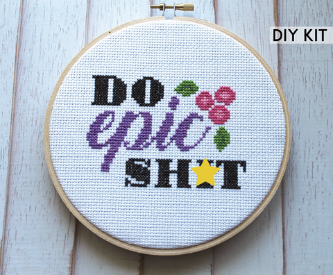 Do Epic Shit Modern Counted Cross Stitch Kit