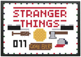 Stranger Things Inspired Sampler Magnet Pin Cross Stitch Pattern Download