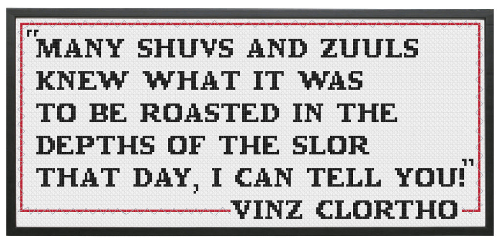 Ghostbusters Quote Vinz Clortho Film Movie Cross Stitch Pattern Download Intermediate