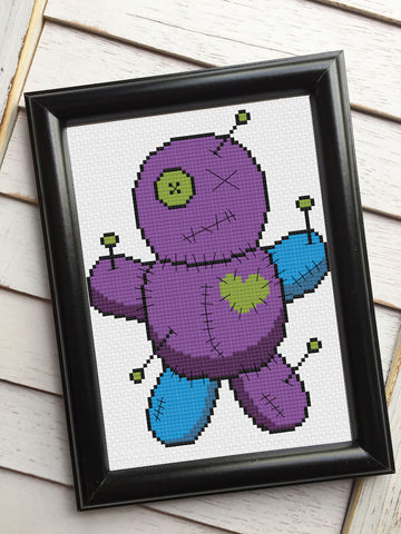 Voodoo Doll Counted Cross Stitch DIY KIT Intermediate