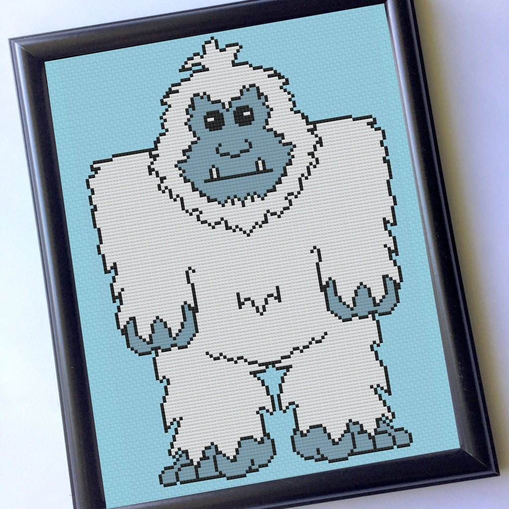 Yeti Counted Cross Stitch Pattern DIGITAL Download