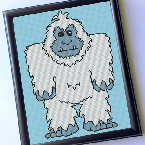Yeti Counted Cross Stitch DIY KIT Intermediate