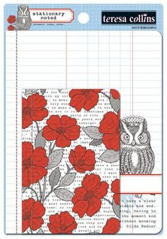 Stationary Noted Notebooks 2 pack Owl