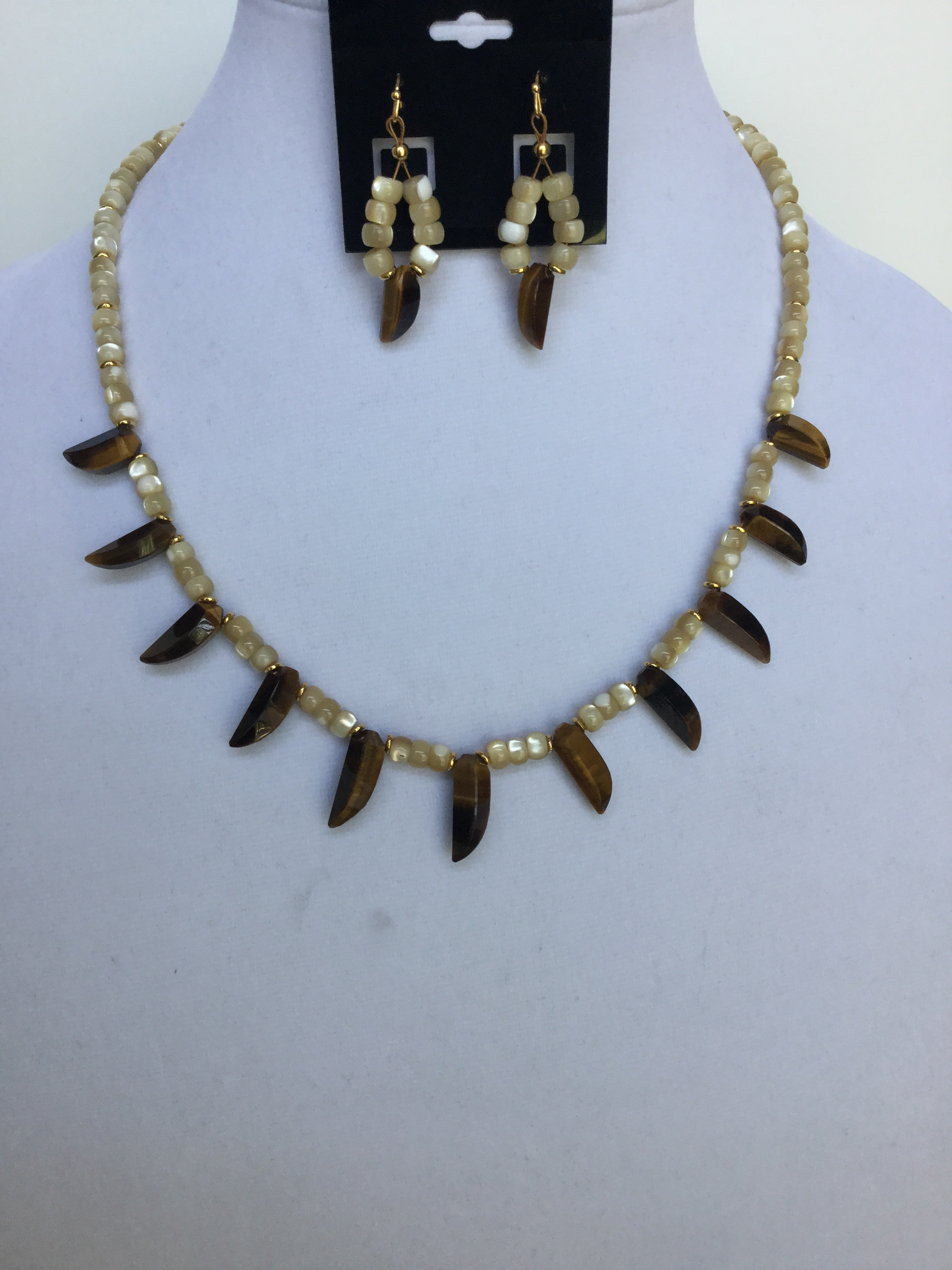 Lady Fingers Tigereye Necklace
