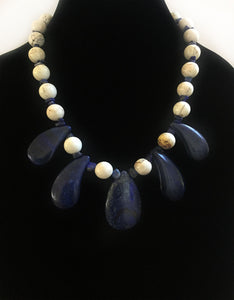 Lapis & Howlite Gemstone Necklace