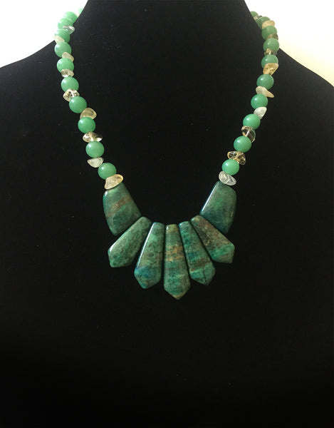 Chryssocolla Bib Necklace