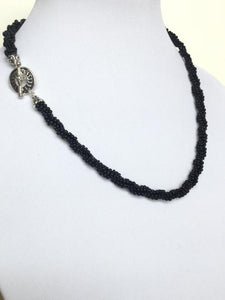 Black Kumihimo Braid Necklace