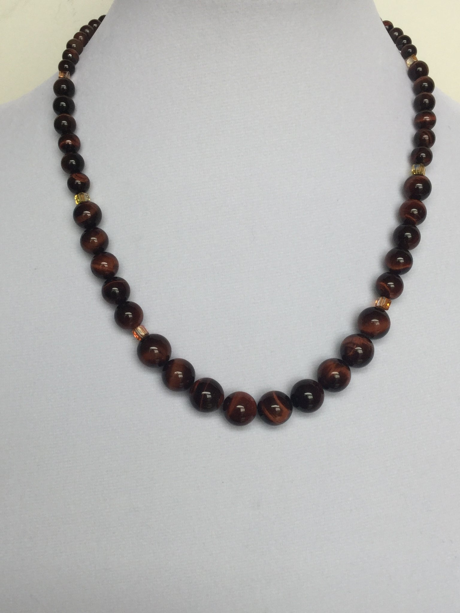 Red Tiger Eye Graduated Necklace