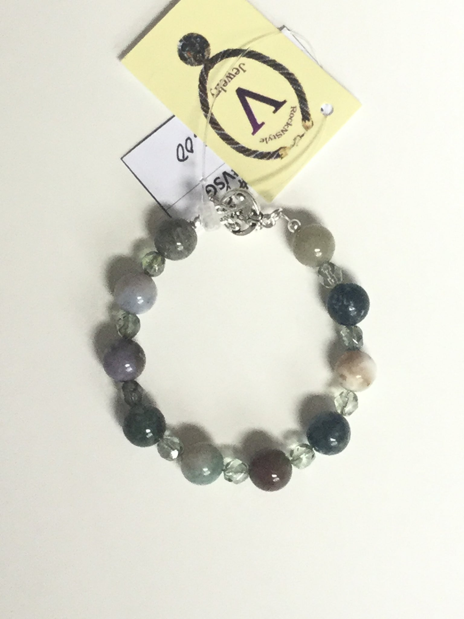 Fancy Jasper w/Czech Green Beads Bracelet