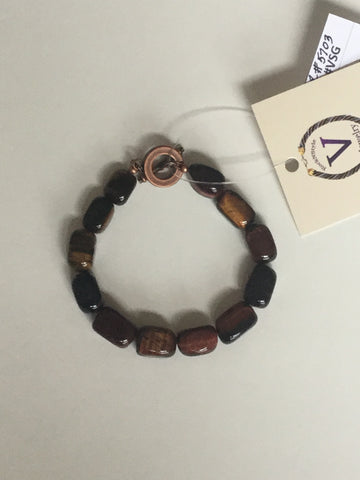 Red Tiger Eye Men's Bracelet