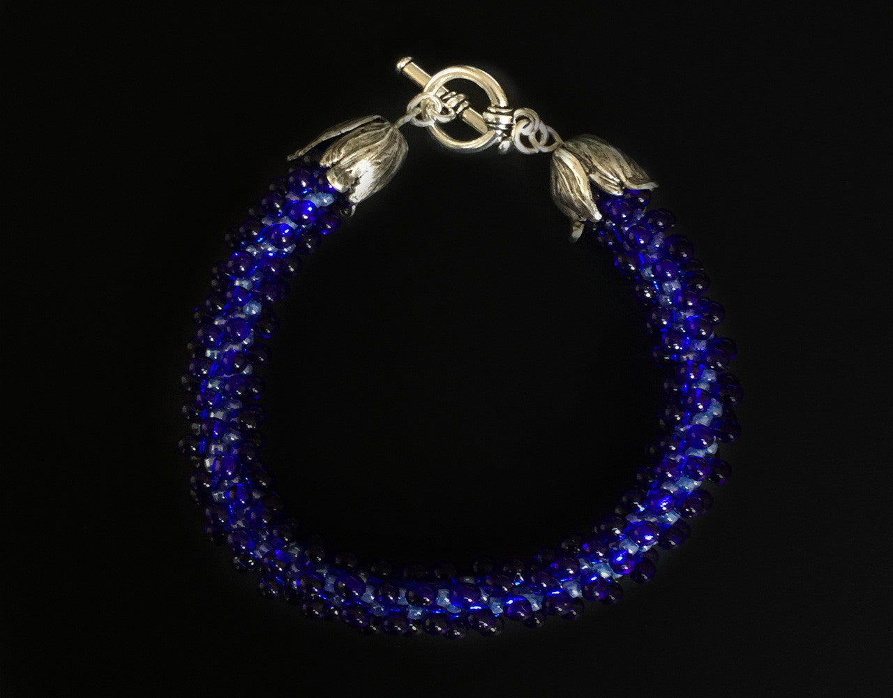 Cobalt Blue Drop Bracelet