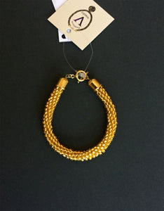 Gold Color Bead Bracelet